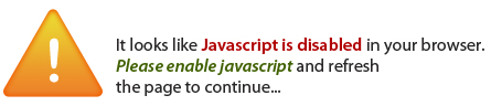Javascript Turned OFF